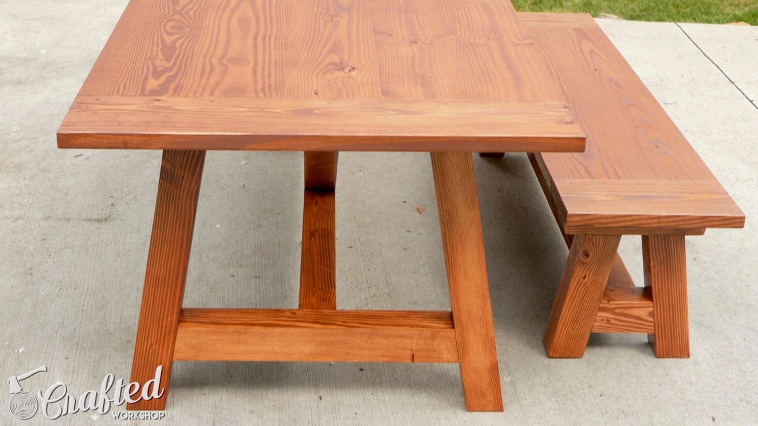 how to build a farmhouse table and benches for 250 woodworking