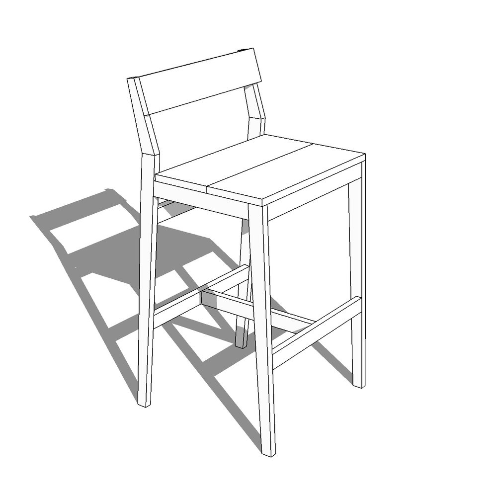 modern bar stool plans