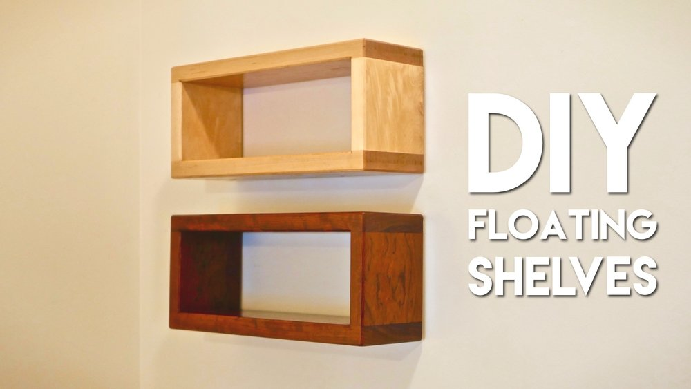 How To Build DIY Floating Shelf With Invisible Hardware Crafted Cool Easy To Install Floating Shelves