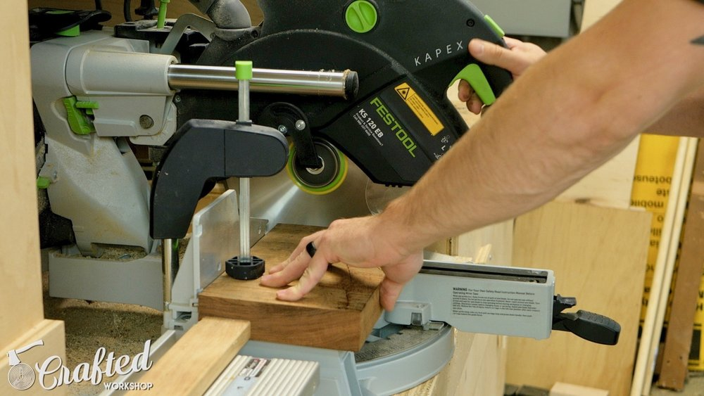 Cutting Bubinga on my Festool Kapex Miter Saw