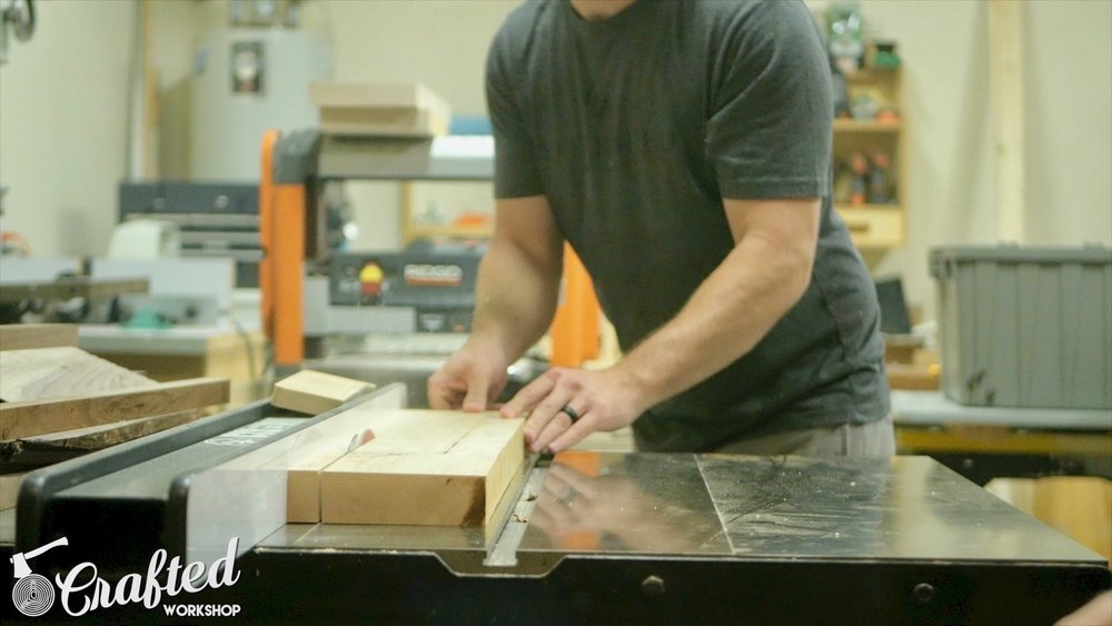 Ripping Hard Maple on SawStop ICS table saw.
