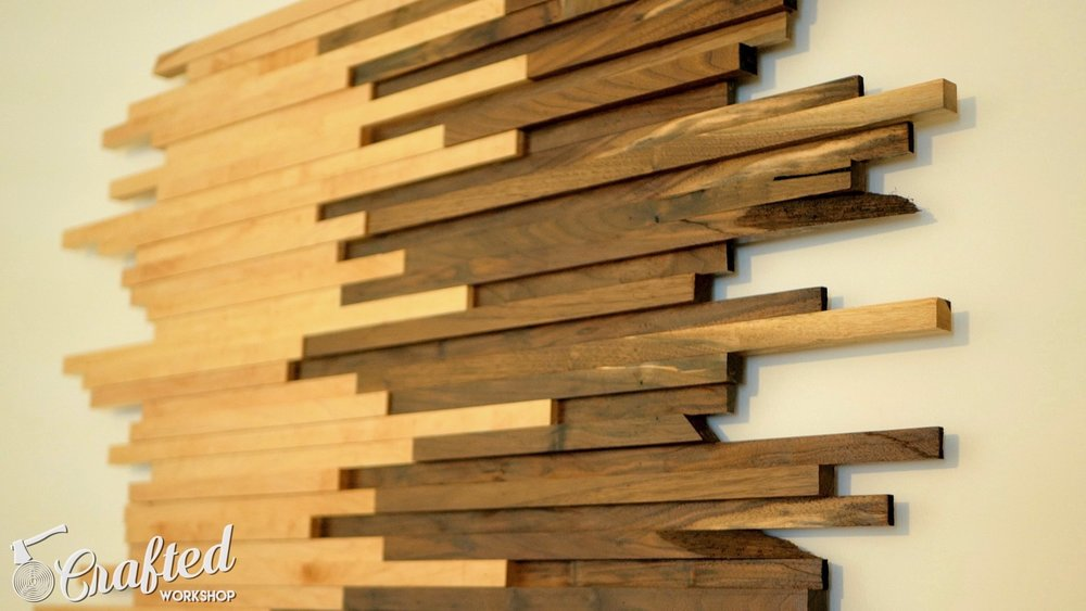 Scrap Wood Wall Art Made From Walnut & Maple | How To Build ...