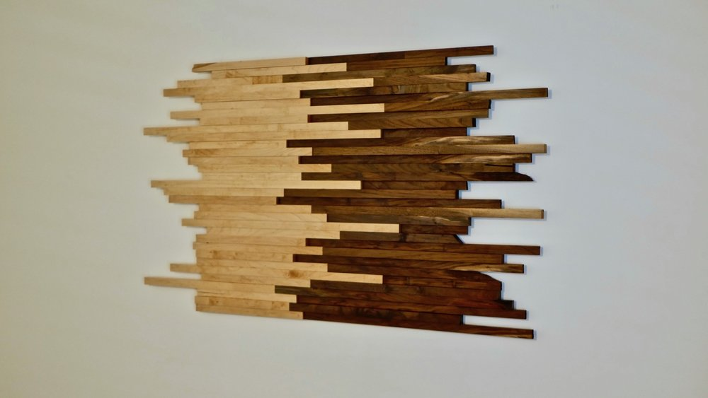 Scrap Wood Wall Art Made From Walnut & Maple | How To Build — Crafted Workshop