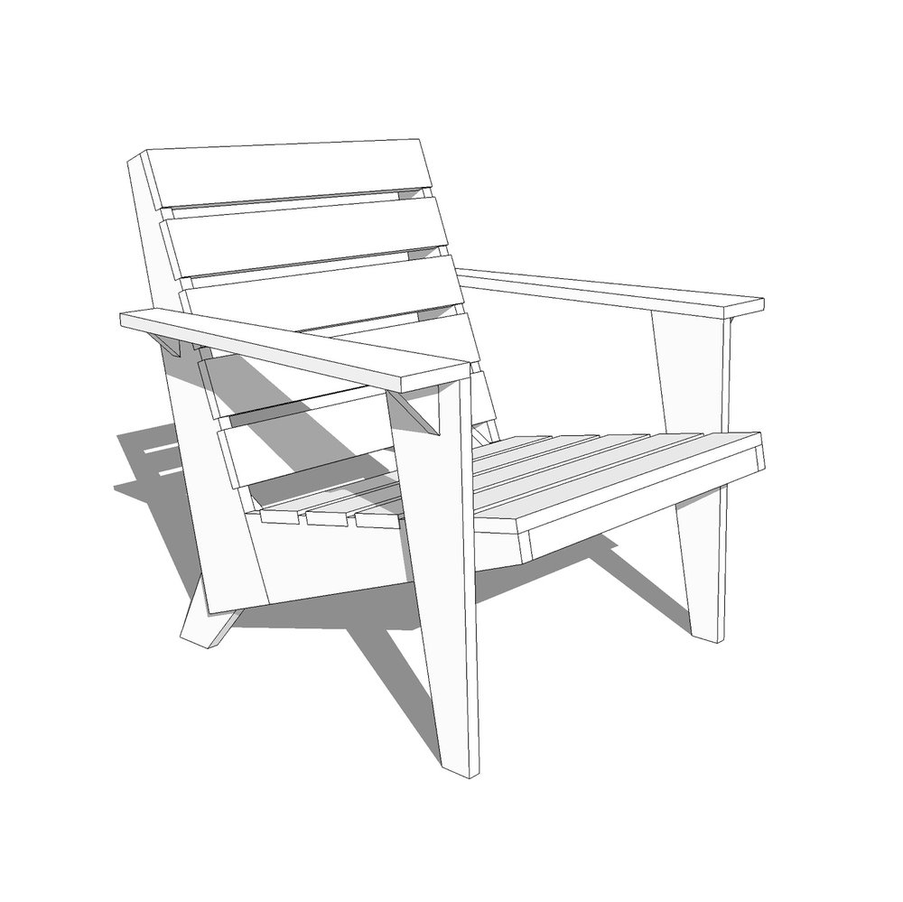DIY Modern Adirondack Chair Plans
