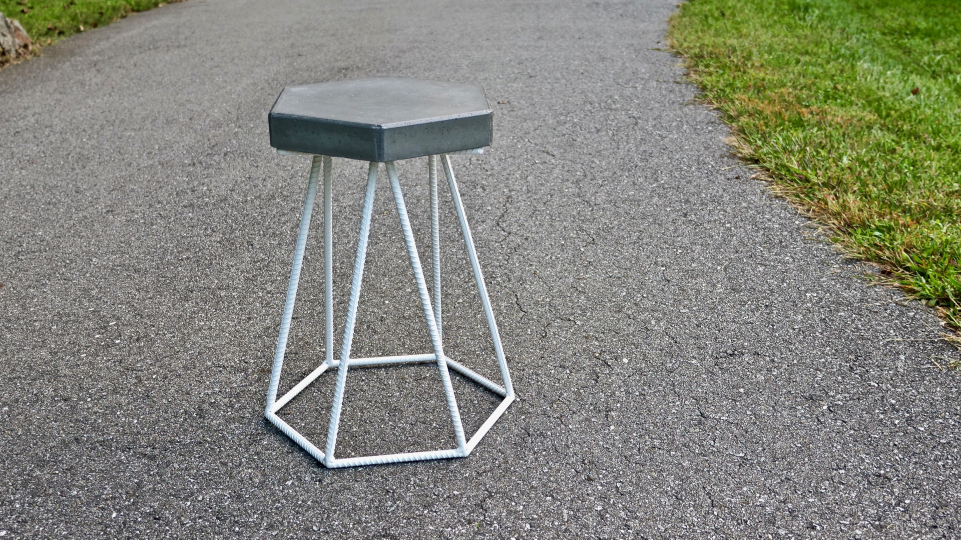 DIY Concrete And Steel Outdoor End Table | How To Build   Welding U2014 Crafted  Workshop