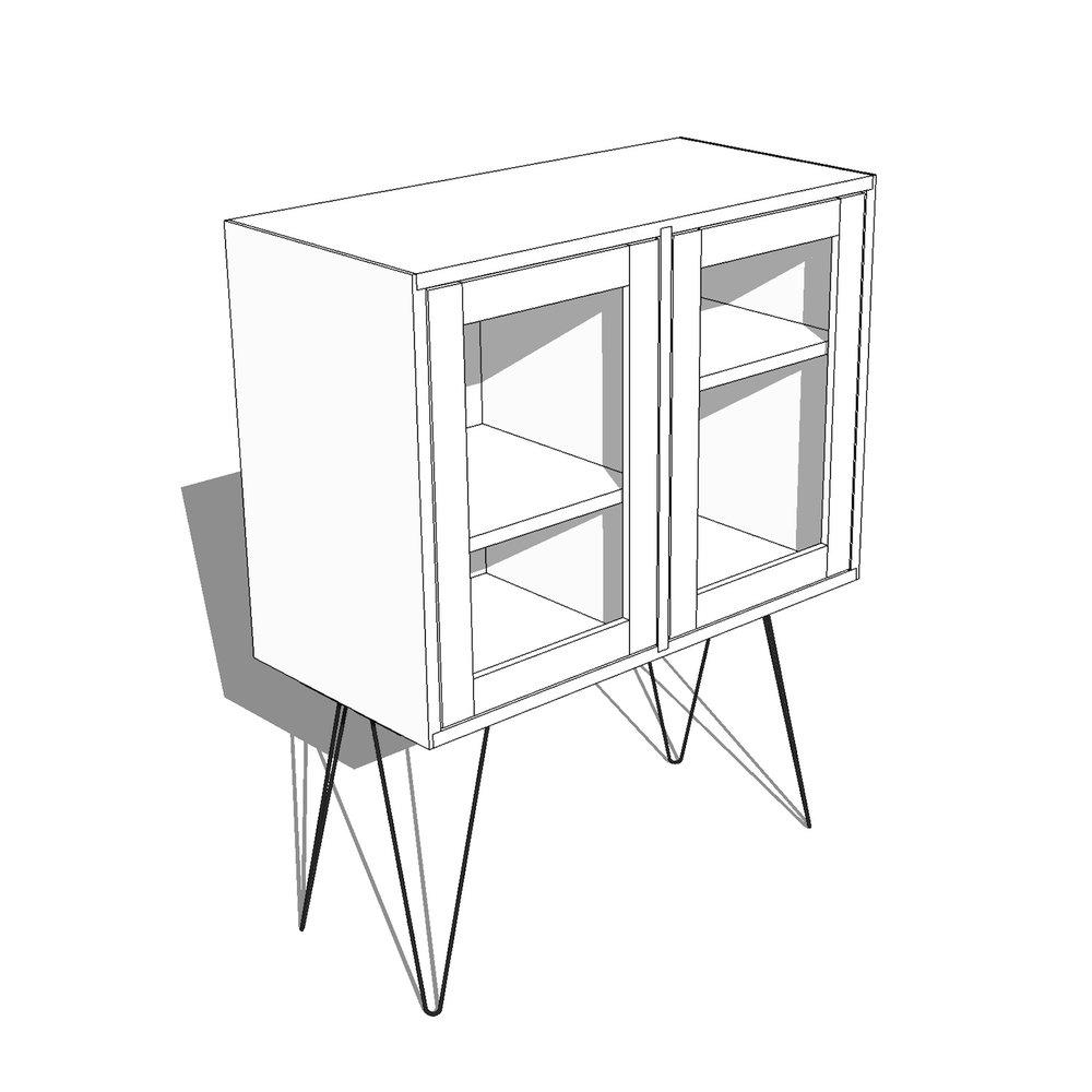 DIY Modern Bar Cabinet / Display Case plans