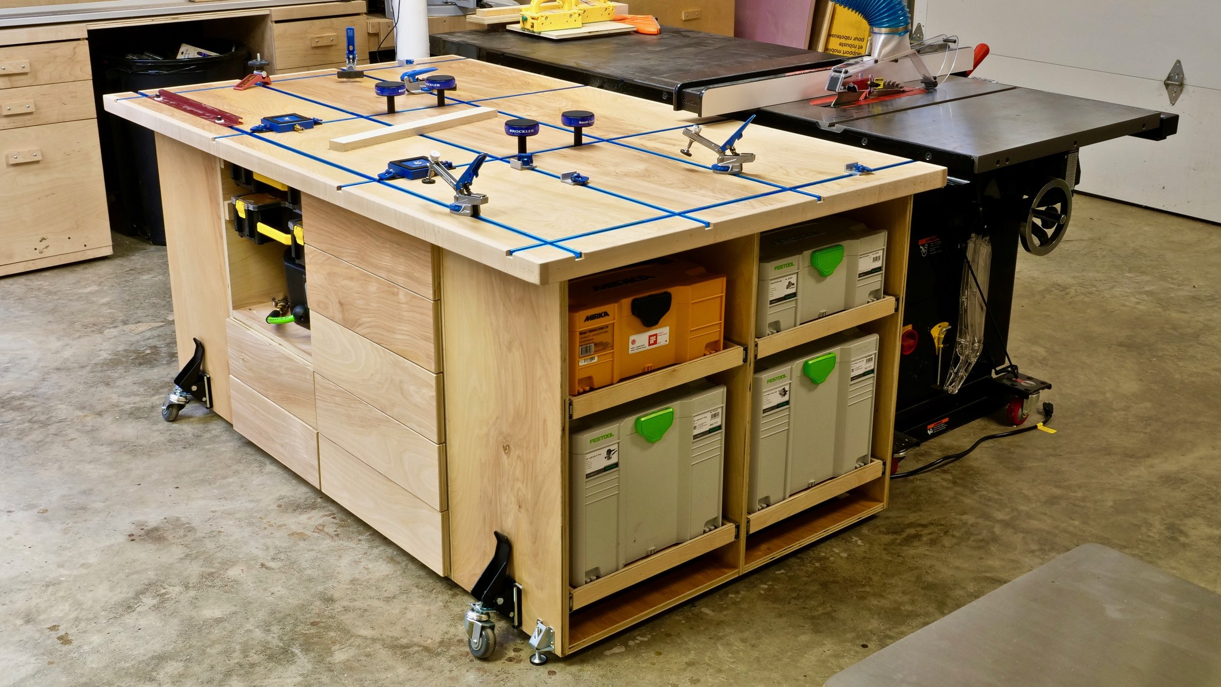 ULTIMATE T Track Assembly U0026 Outfeed Table With Systainer Storage | How To  Build   Woodworking U2014 Crafted Workshop