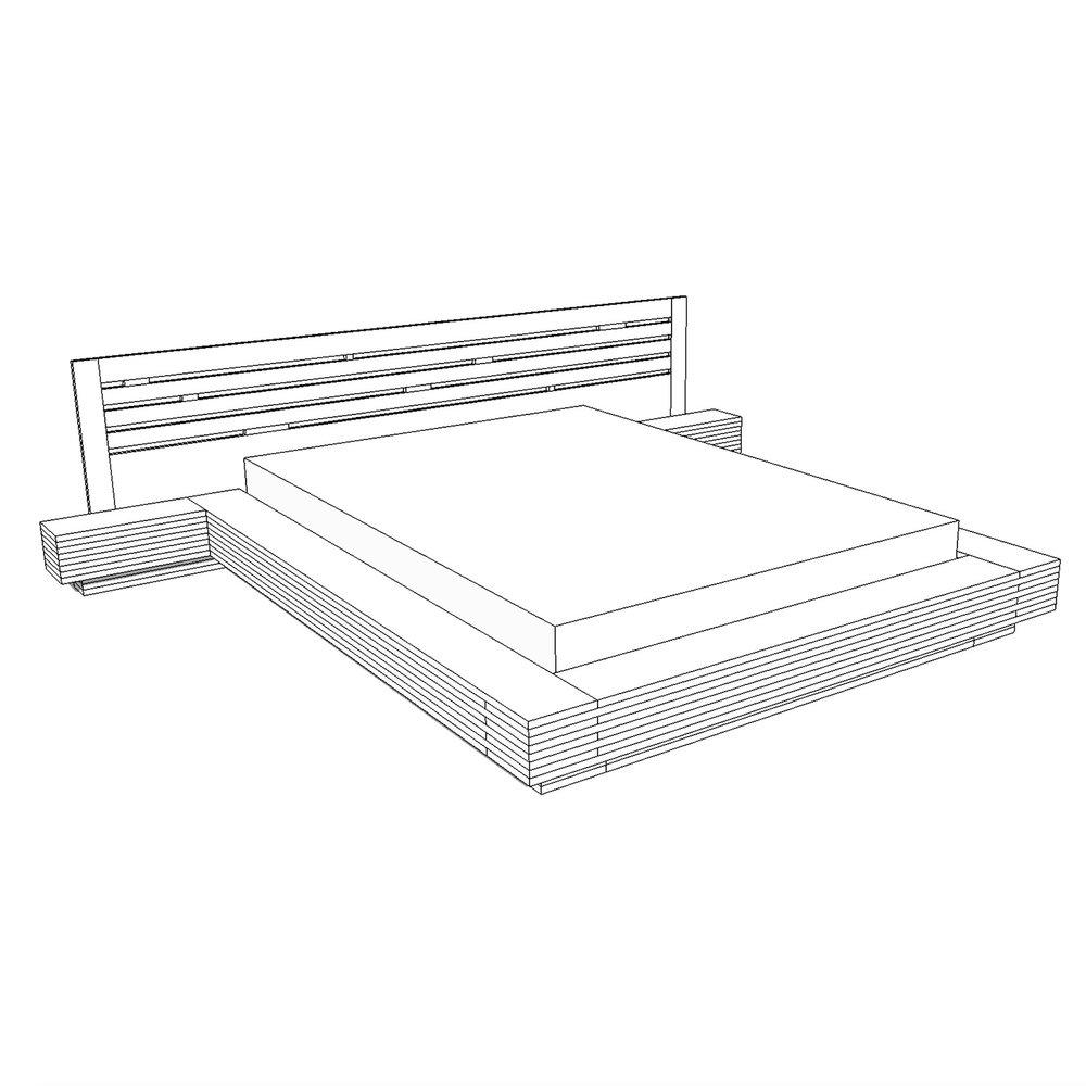 DIY Modern Plywood Platform Bed Plans