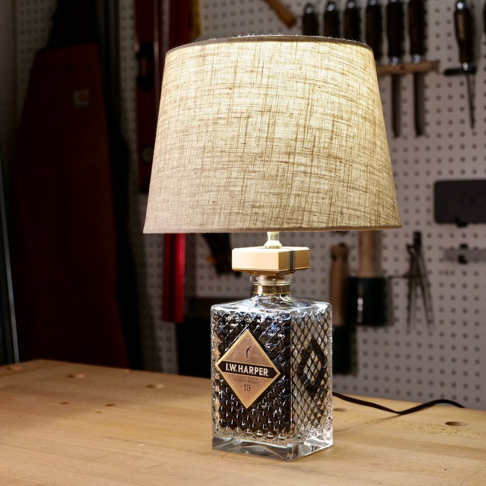 whisky bottle lamp diy project