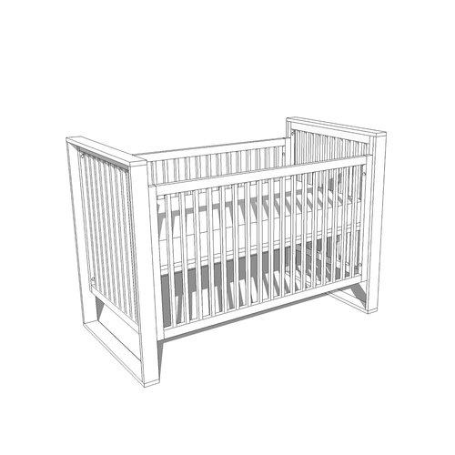 mid century modern baby crib sketchup file - Mid Century Modern Crib