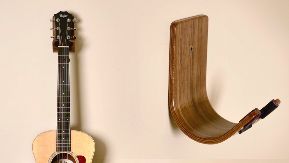 Diy Guitar Hanger Bent Wood Lamination How To