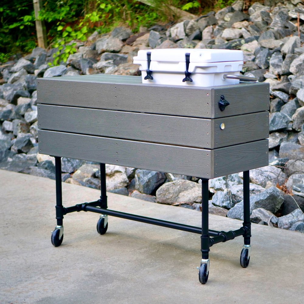 DIY Outdoor Patio Cooler Ice Chest Plans