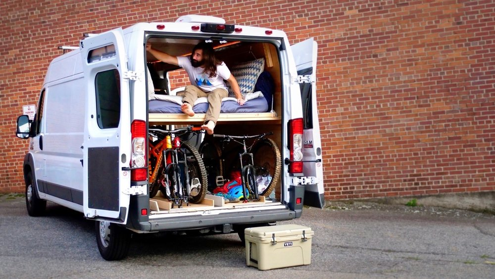 DIY Camper Van Conversion Bed Build Converts To A Couch Crafted Workshop