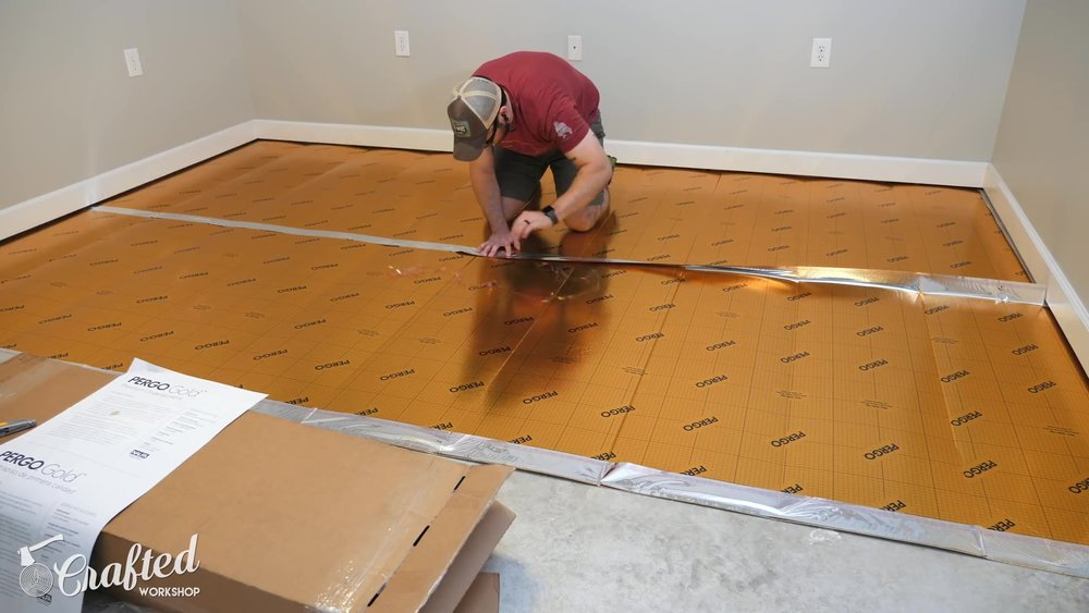 Since I'm using Pergo flooring, I went with Pergo underlayment as well, and it was really easy to work with. When installing laminate on ...