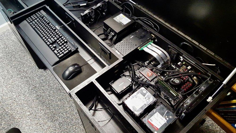 Building a computer desk diy desk pc part 1 crafted workshop solutioingenieria Choice Image
