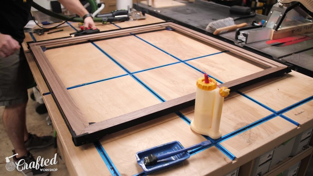Clamping the Mirror Frame