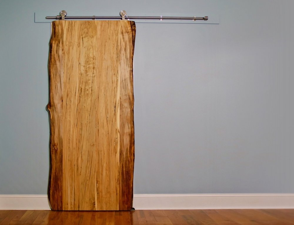 How To Build A Live Edge Sliding Barn Door Crafted Workshop