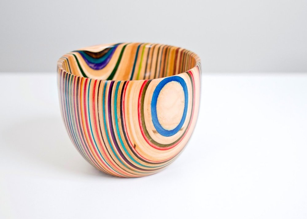 Turning A Bowl From Recycled Skateboards Crafted Workshop