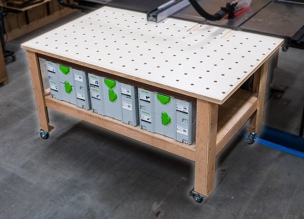 How To Build A DIY MFT-Style Outfeed Table, Assembly Table