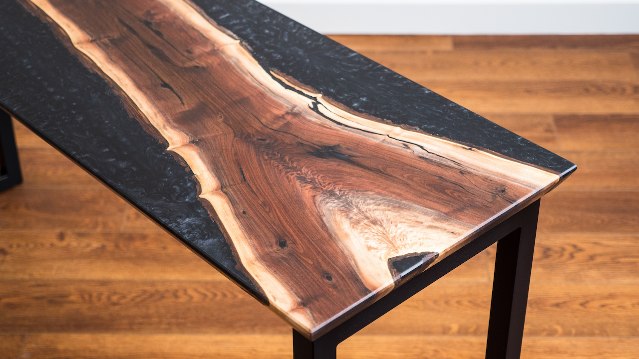 How To Build A Live Edge Epoxy Resin Reverse River Table