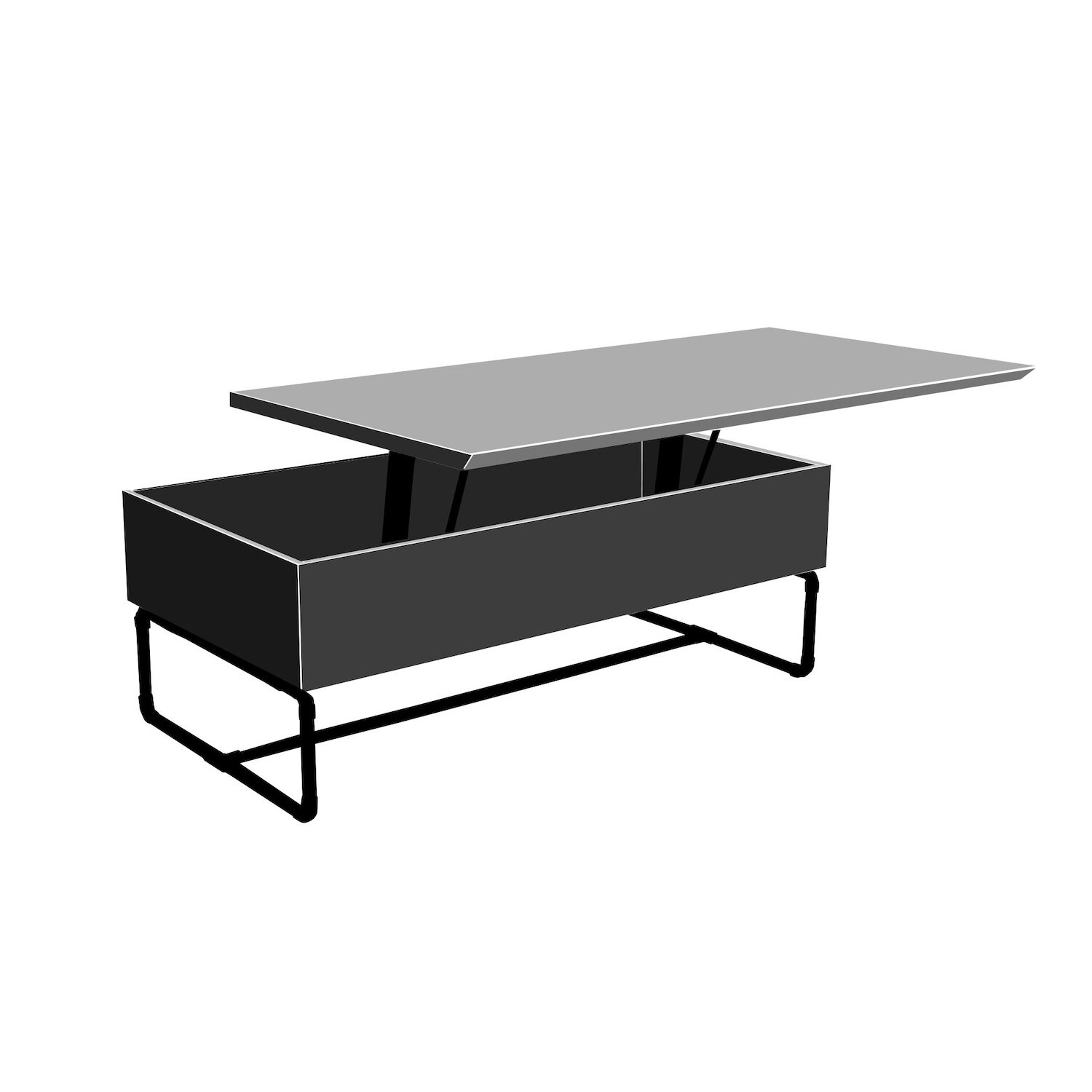 - Lift Top Coffee Table (with Storage) Plans — Crafted Workshop