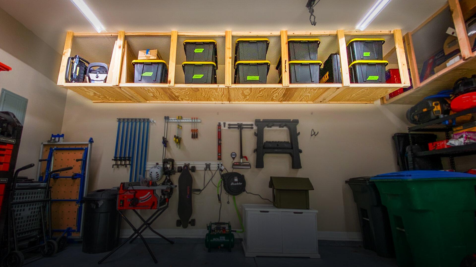 How To Build Diy Garage Storage Shelves Crafted Workshop