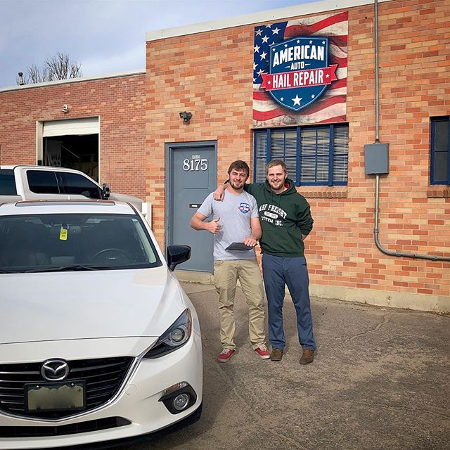 Nick is ecstatic to get his Mazda back, Zach got him all taken care of. Give us a call and get you're hail damaged cars in ASAP! (844)879-2247 Aahail.com  #mazda #mazda3 #pdr #happy #happycustomer #smile #cars #dentfree #shining