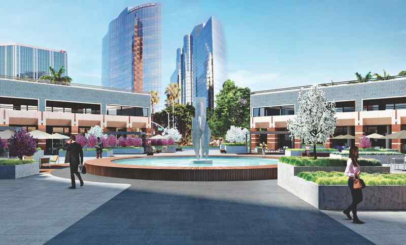 """1.7.17   A $5 million renovation of the common spaces at the World Trade Center in downtown Long Beach is intended to update the office tower from a 1980s look to something that will """"appeal more to the future office worker.""""  That's the word from Rick Shlemmer, principal of SAA Interiors + Architecture, the Culver City-based firm hired to give the 27-story building's public-facing areas a new look.   Read more at Press Telegram"""