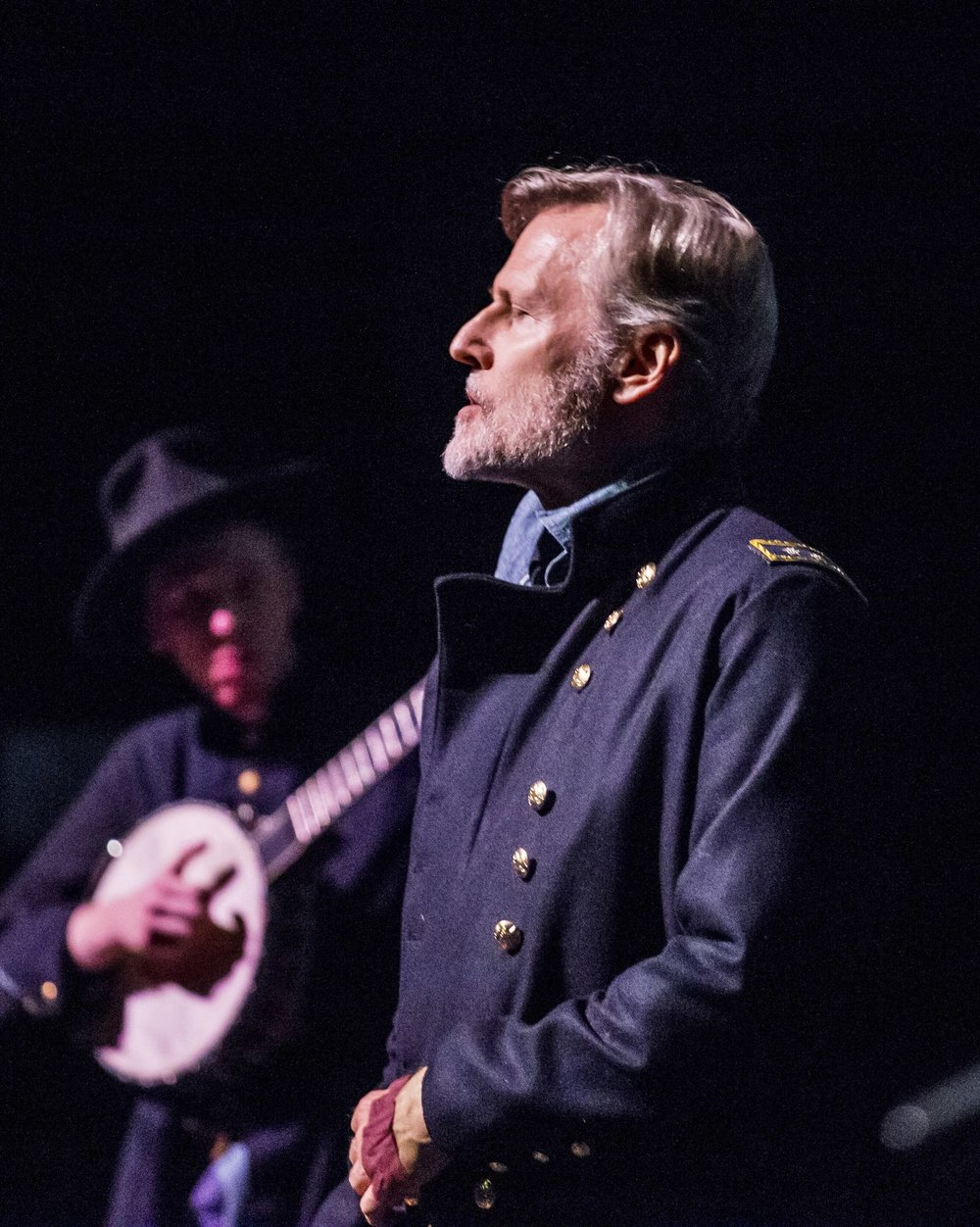 "Jay Nickerson plays the determination and doubts of the Civil War General William Tecuseh Sherman in ""  Atlanta Burning Sherman's Shadows."""