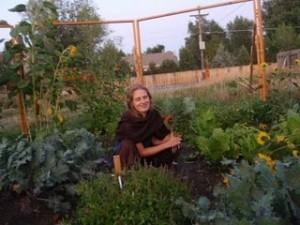 Blythe in Garden