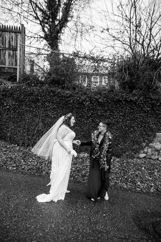 Philadelphia Lesbian Styled Patriotic Wedding 14