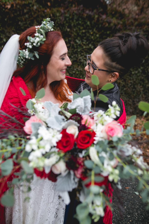 Philadelphia Lesbian Styled Patriotic Wedding 27