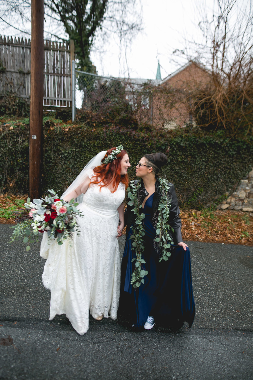 Philadelphia Lesbian Styled Patriotic Wedding 28