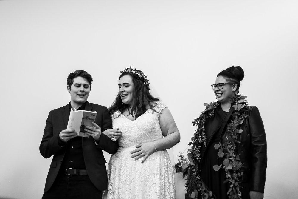 Philadelphia Lesbian Styled Patriotic Wedding 36