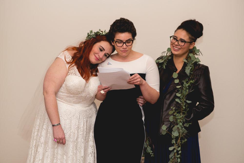 Philadelphia Lesbian Styled Patriotic Wedding 43