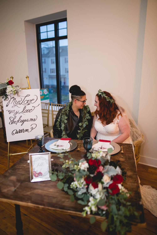Philadelphia Lesbian Styled Patriotic Wedding 51