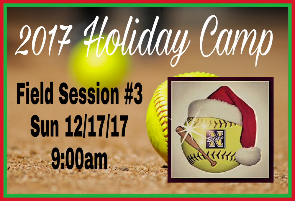 Camp Fielding #3 - Date: Sun 12/17/17Location: Discovery Sports Complex12400 Columbia WayDowney CA 90242Report Time: 8:45amSession Hours: 9:00am to 1:00pmBring: Softball gear, sunscreen lotion, running shoes, dumb bells (2lb, 5lb or 10lb), water, sports drink and healthy snack. Walk-Up campers welcomed...space is available.  For details txt Coach Manny at 323-997-1564.