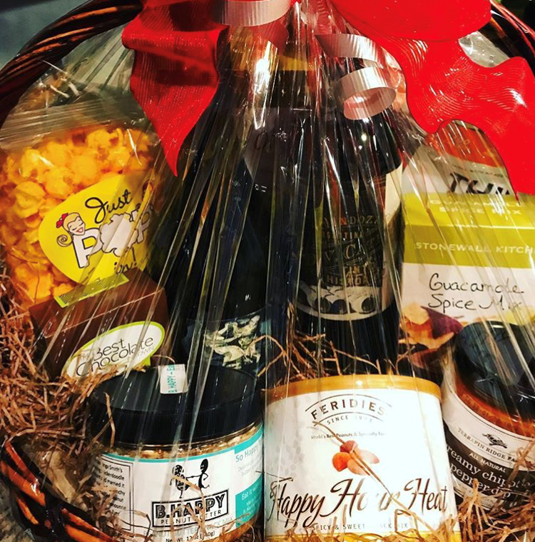 See what I'm talking about? These gift baskets are filled to the brim with all sorts of treats! Photo courtesy of  Tasteful Times Instagram