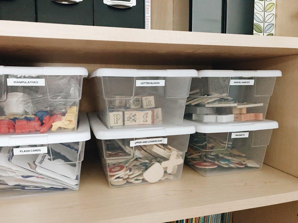 Supplies organized by type | Photo Credit: Stephanie Starkey