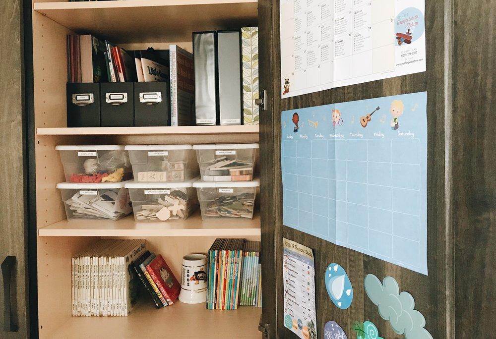 Keep school supplies organized + handy! | Photo Credit: Stephanie Starkey