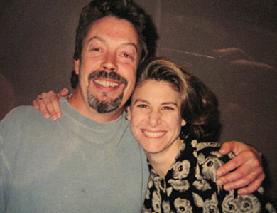 With Actor Tim Curry