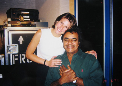 With Johnny Mathis