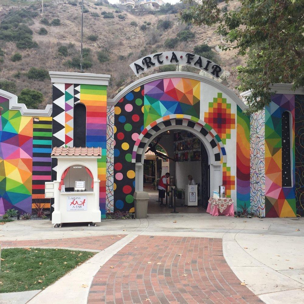 Laguna Art-A-Fair Fine Art Festival 2018 - Laguna Beach CA, USA