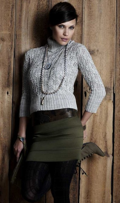 Vogue Knitting Fall 2010, photo by Paul Amato Designer: Michele Wang
