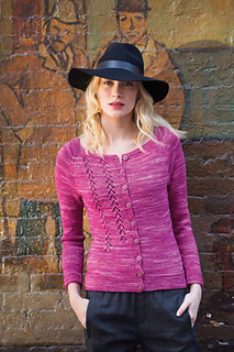 Ballet - Neck Cardigan    Vogue Knitting Early Fall 2015  By Suvi Simola