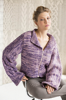 Cropped Moto Jacket    Vogue Knitting Holiday 2014  By John Brinegar
