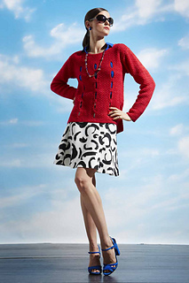 Long Sleeve Pullover    Vogue Knitting Early Fall 2014  By: Sandi Prosser