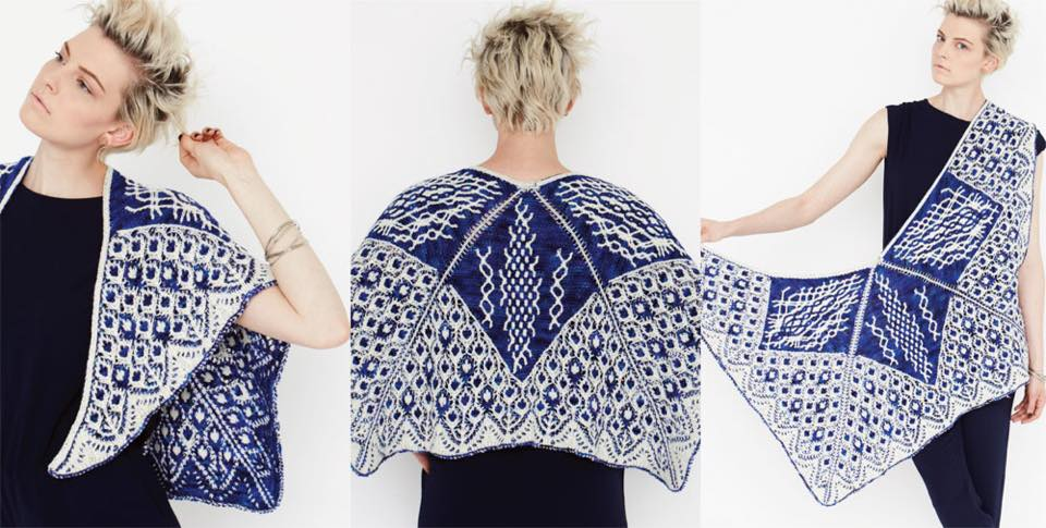 Segmented Shawl   Vogue Knitting Fall 2015  By: Michael Dworjan