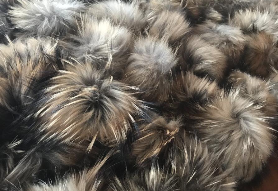 Real Fur Pom Poms