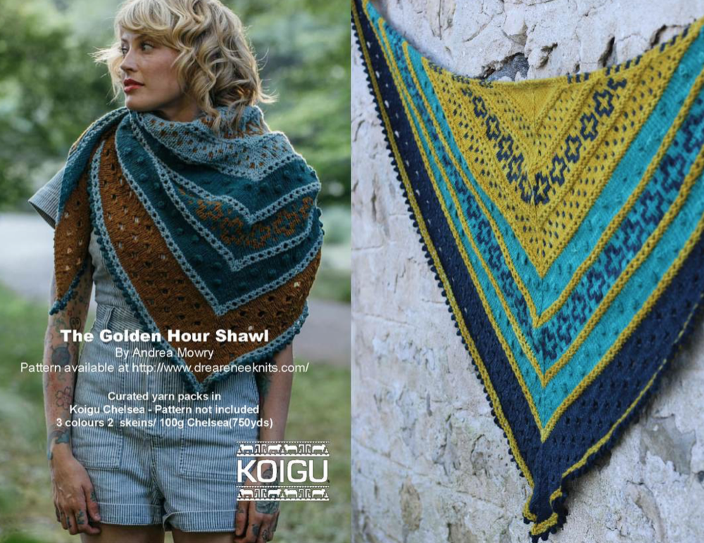 Golden Hour Shawl Kit